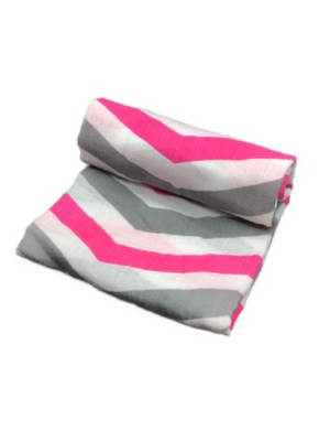 Swaddle - stripes pink
