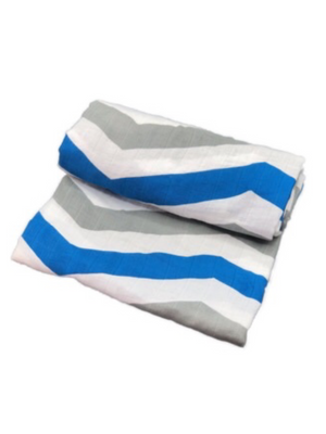 Swaddle - stripes blue