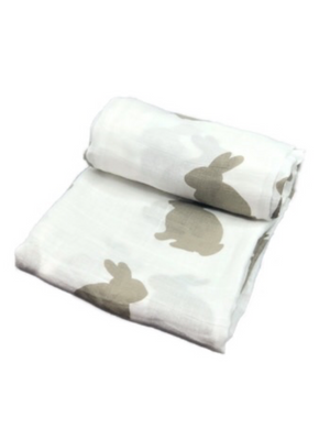 Mini Swaddle - rabbit beige