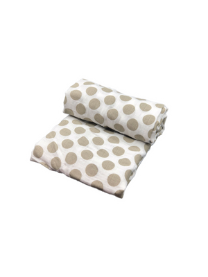 Swaddle - dots beige
