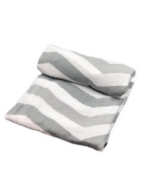 Swaddle - stripes grey
