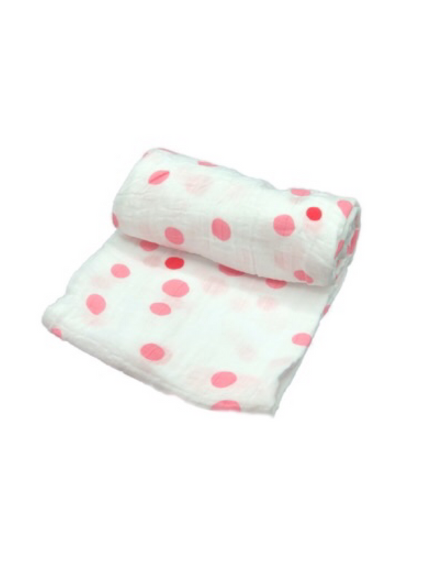 Mini Swaddle - dots girl