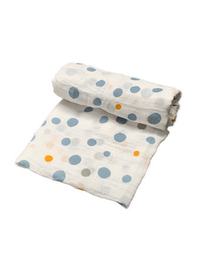 Mini Swaddle - dots boy