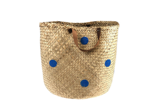 Storage Basket - dots blue