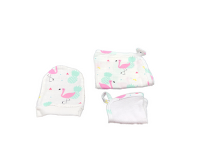 Washcloth Set of 3 - flamingo