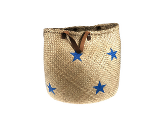 Storage Basket - stars blue