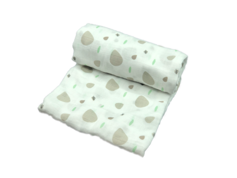 Mini Swaddle - leaves