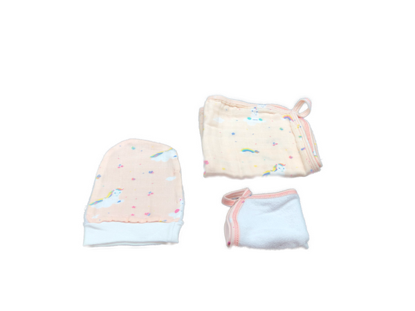 Washcloth Set of 3 - unicorn