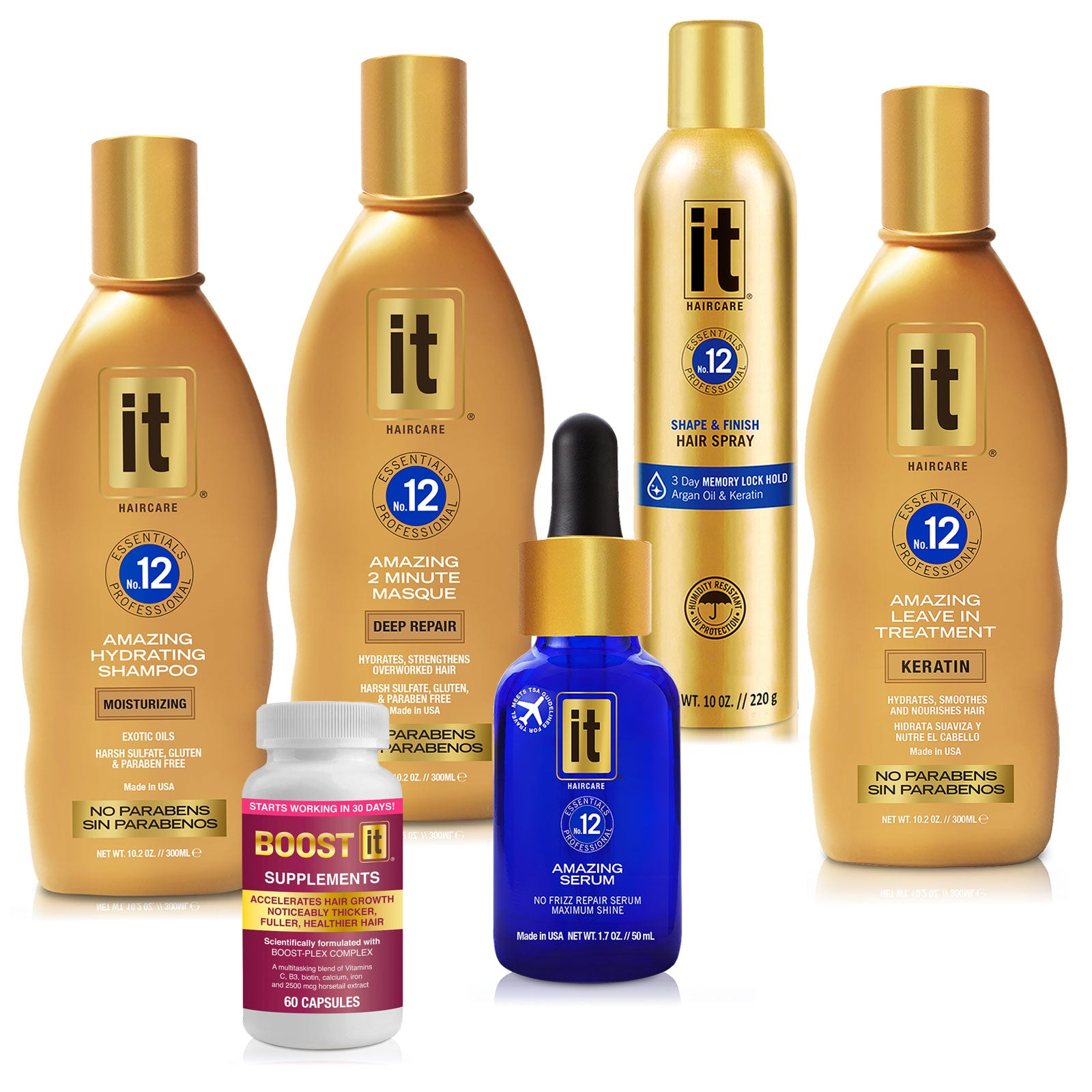 IT GOLD PRO - Over Processed Hair - Repair & Smooth Program