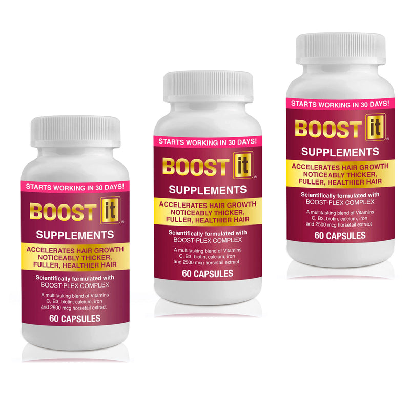 Boost IT Woman Supplements Helps Prevent Thinning Hair & Female Baldness Pattern - 3 Month Supply