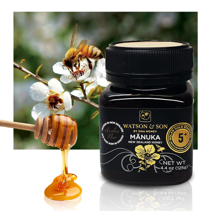 Manuka 5+ New Zealand Honey 4oz