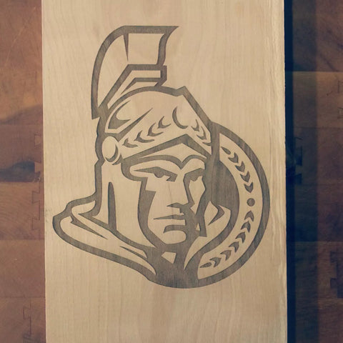 Ottawa Senators Laser Engraved