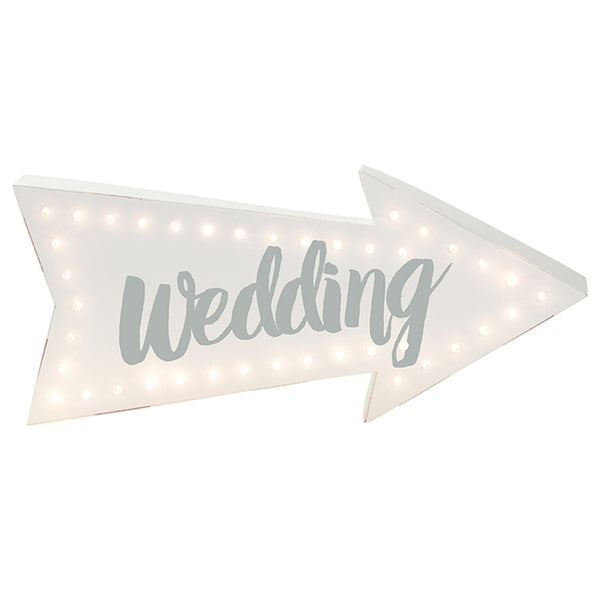 Illuminating Wedding Sign