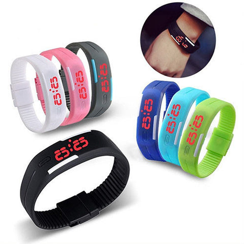 Adjustable Silicone LED Sports Watch