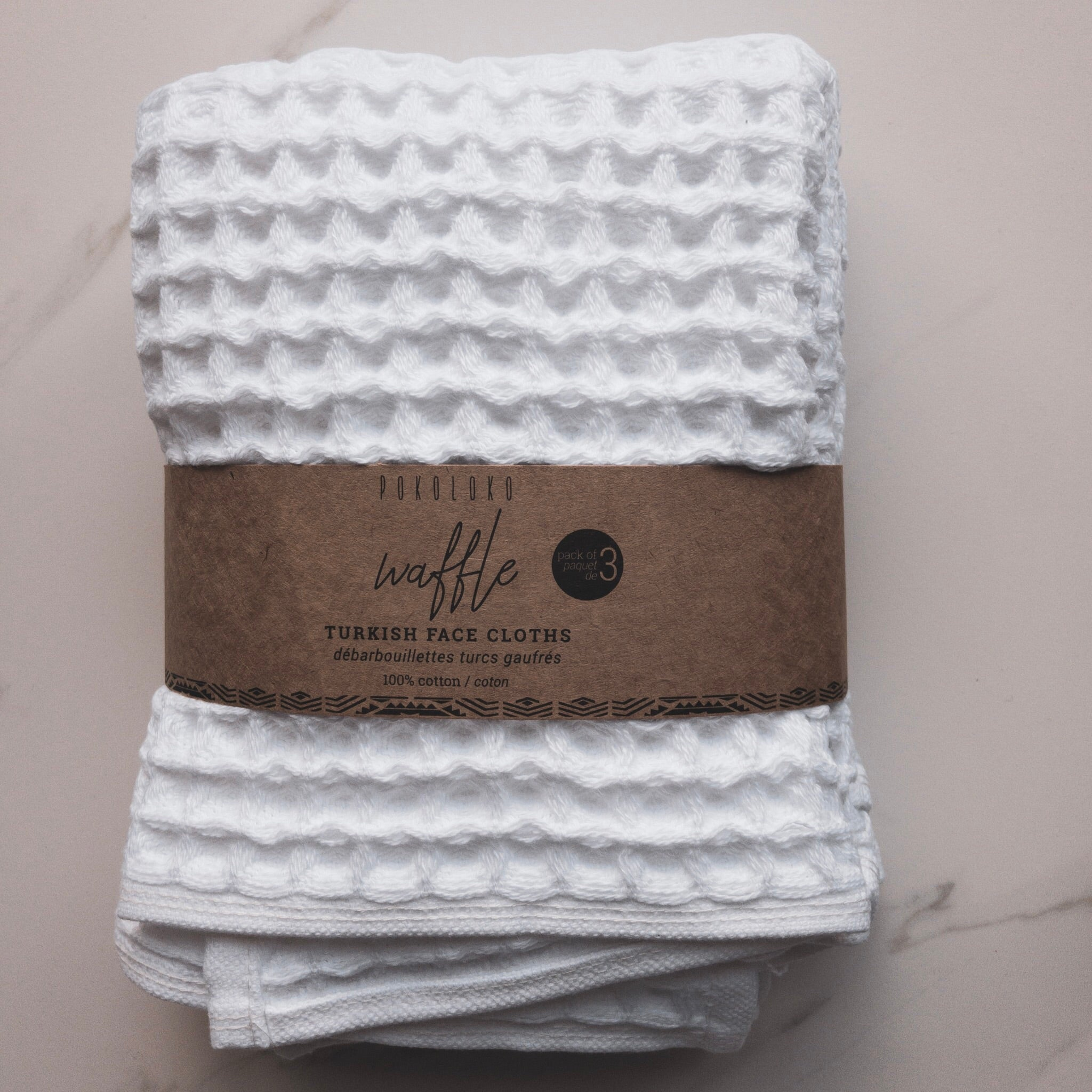 Pokoloko Waffle Face Cloths (pack of 3)