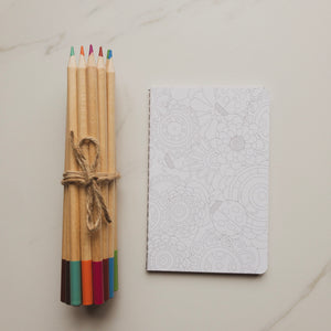Pencil Crayons and small journal
