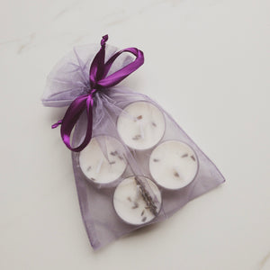 Lavender tea light candles