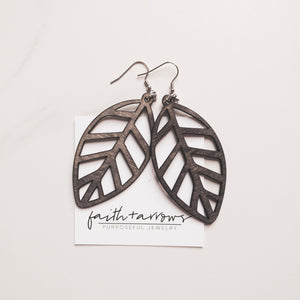 Handcrafted wood earrings