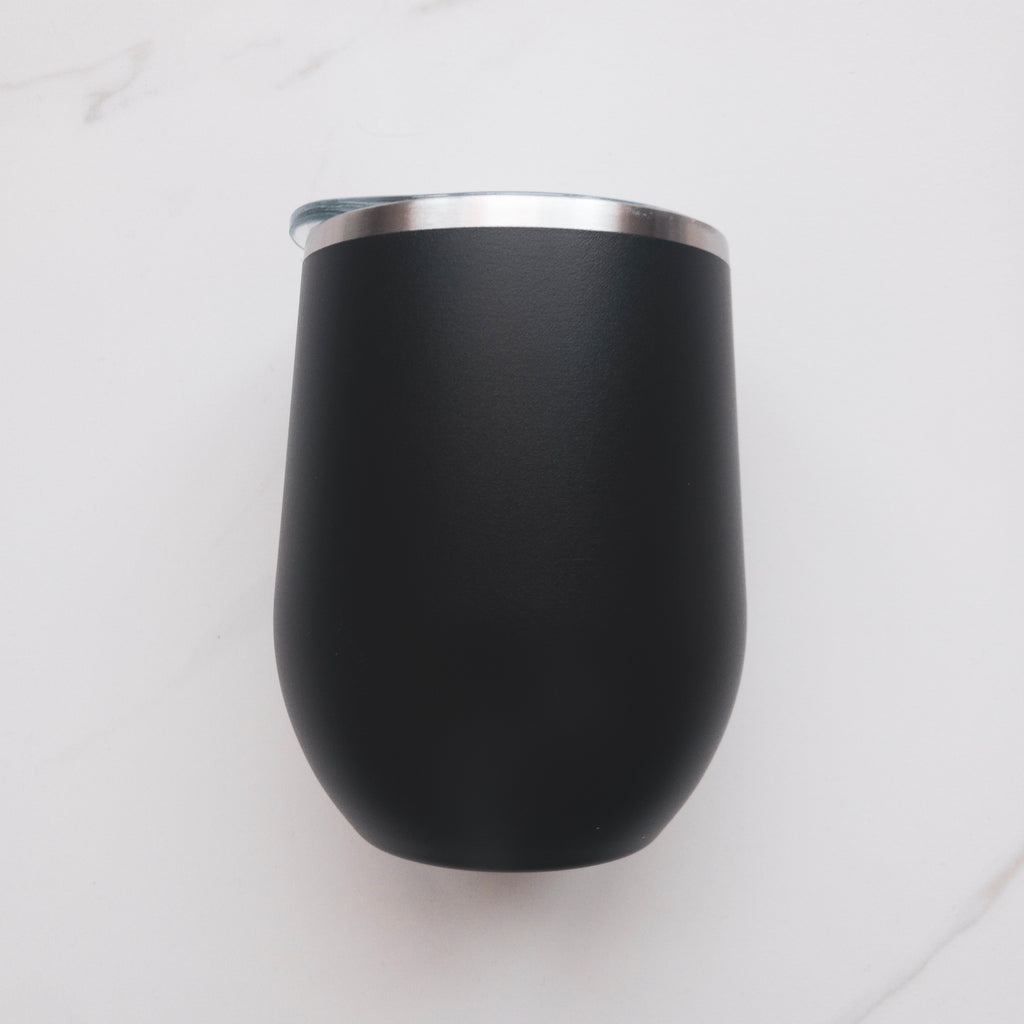 Custom engraved insulated wine tumbler