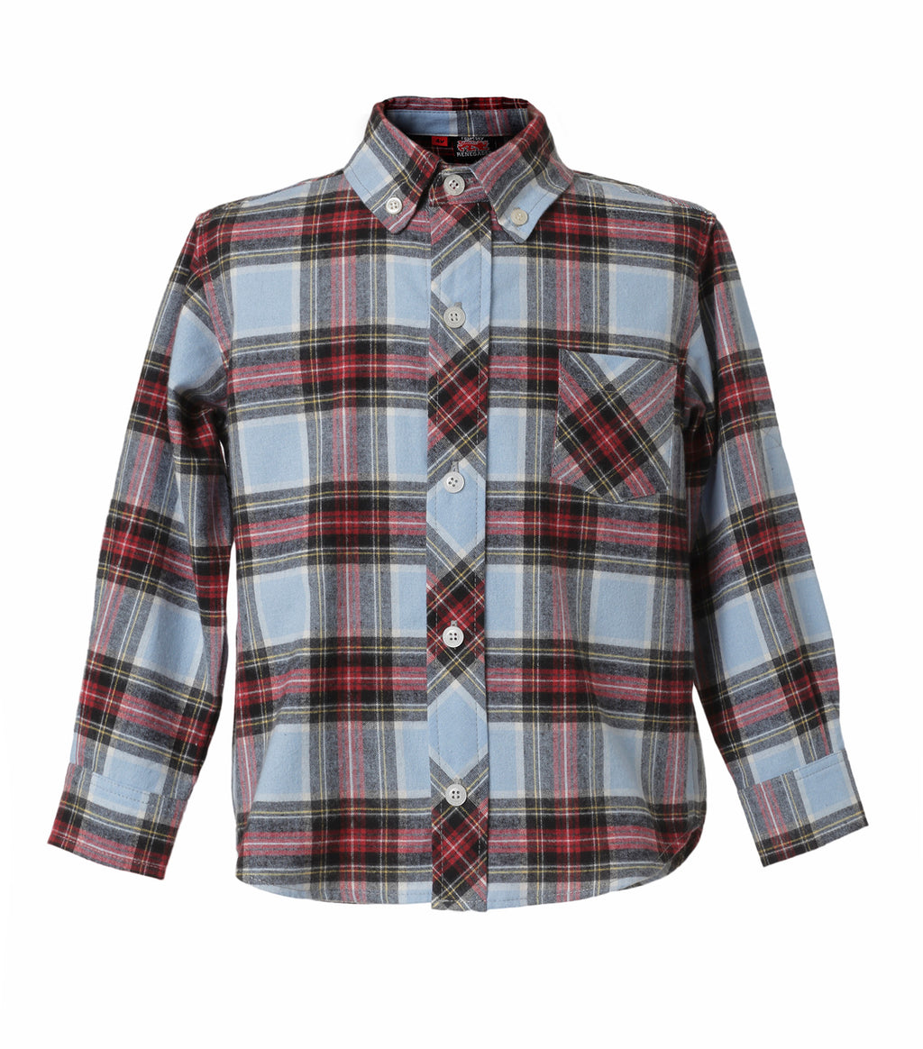 Camisa Plaid Azul Infant