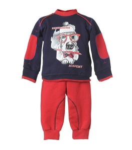 Conjunto Rojo Estampado Infant
