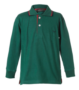 Playera Polo Verde Manga Larga