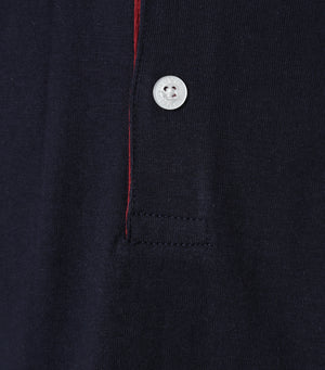 Polo Azul Navy Manga Larga