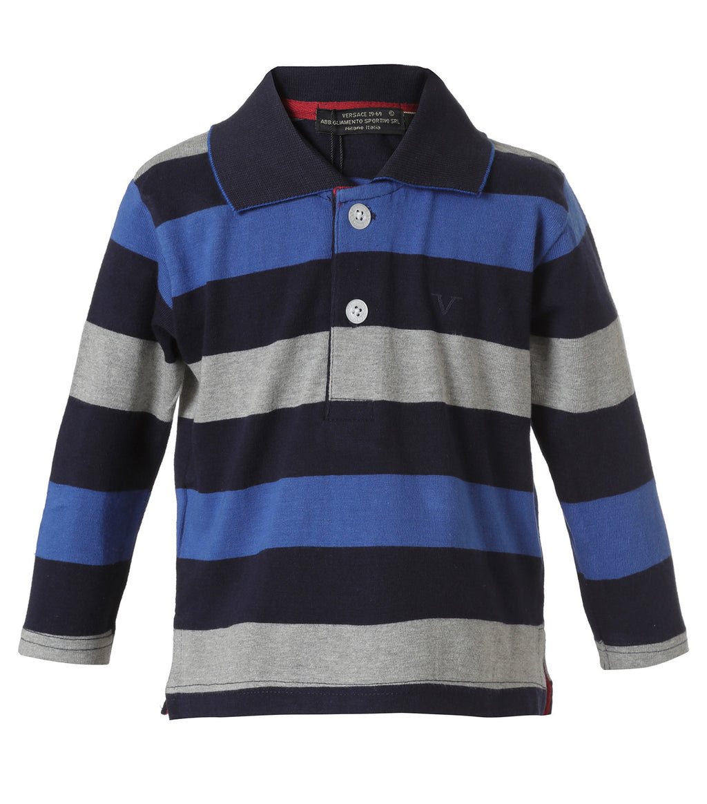 Polo Rayada Azul Infant