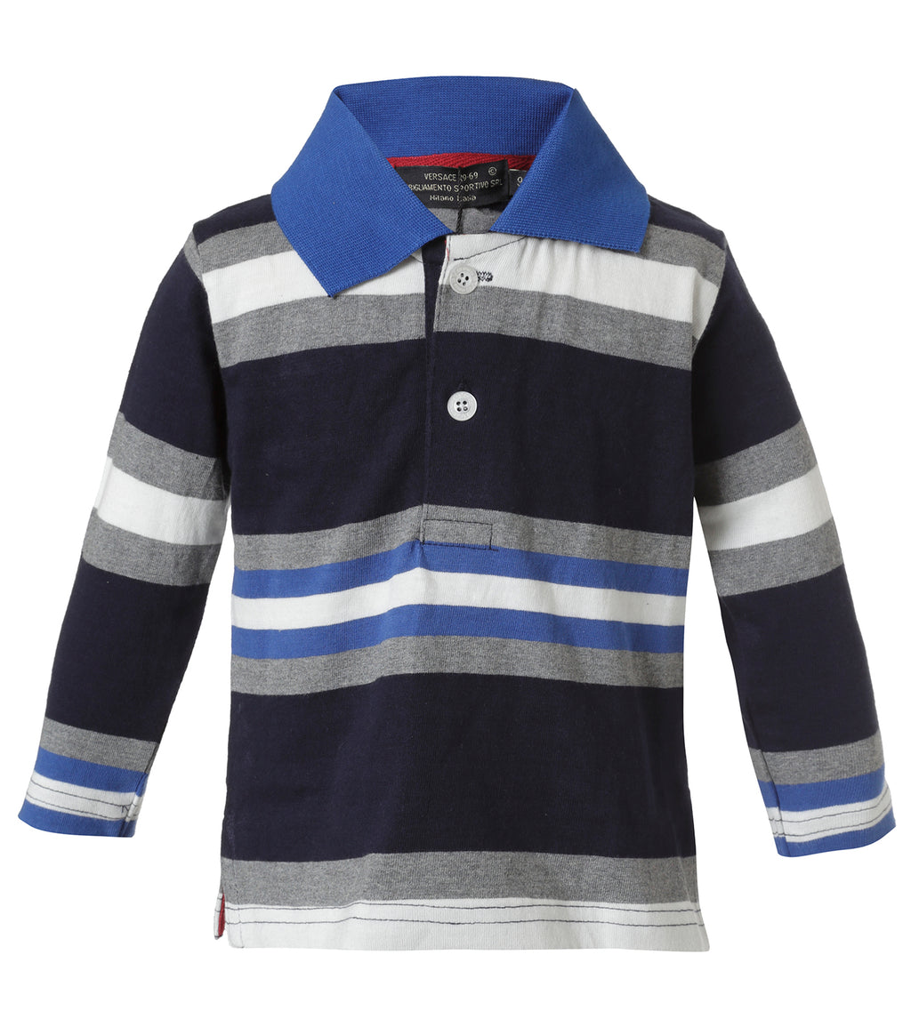 Polo Azul Rayada Infant