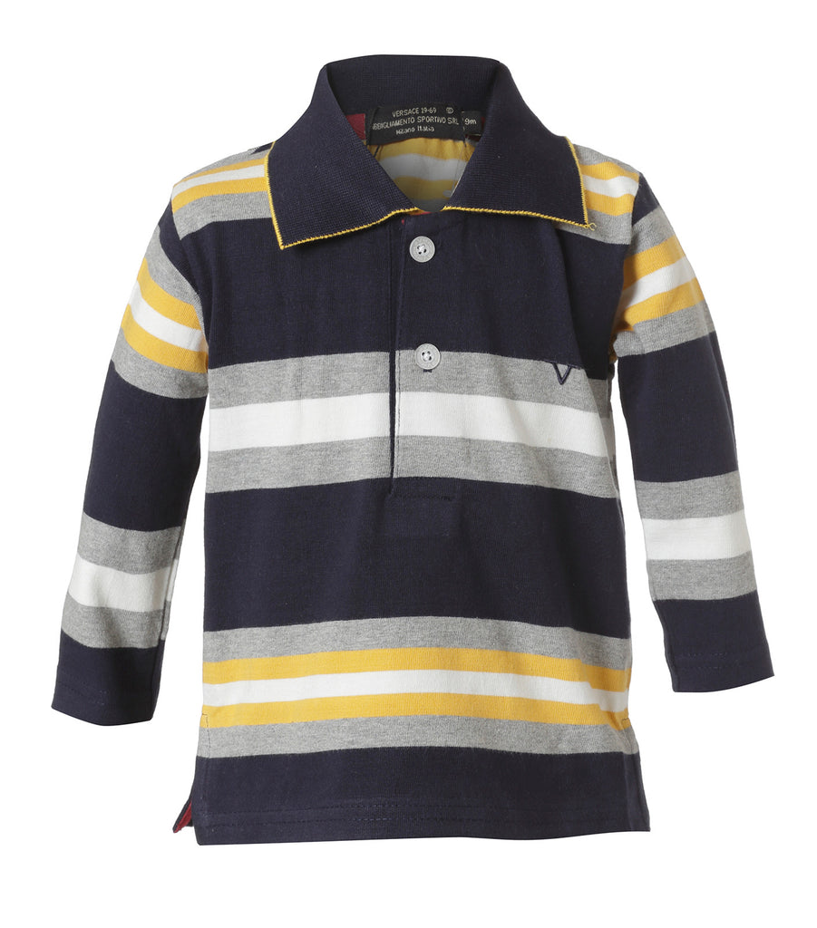 Polo Rayada Azul y Amarillo Infant