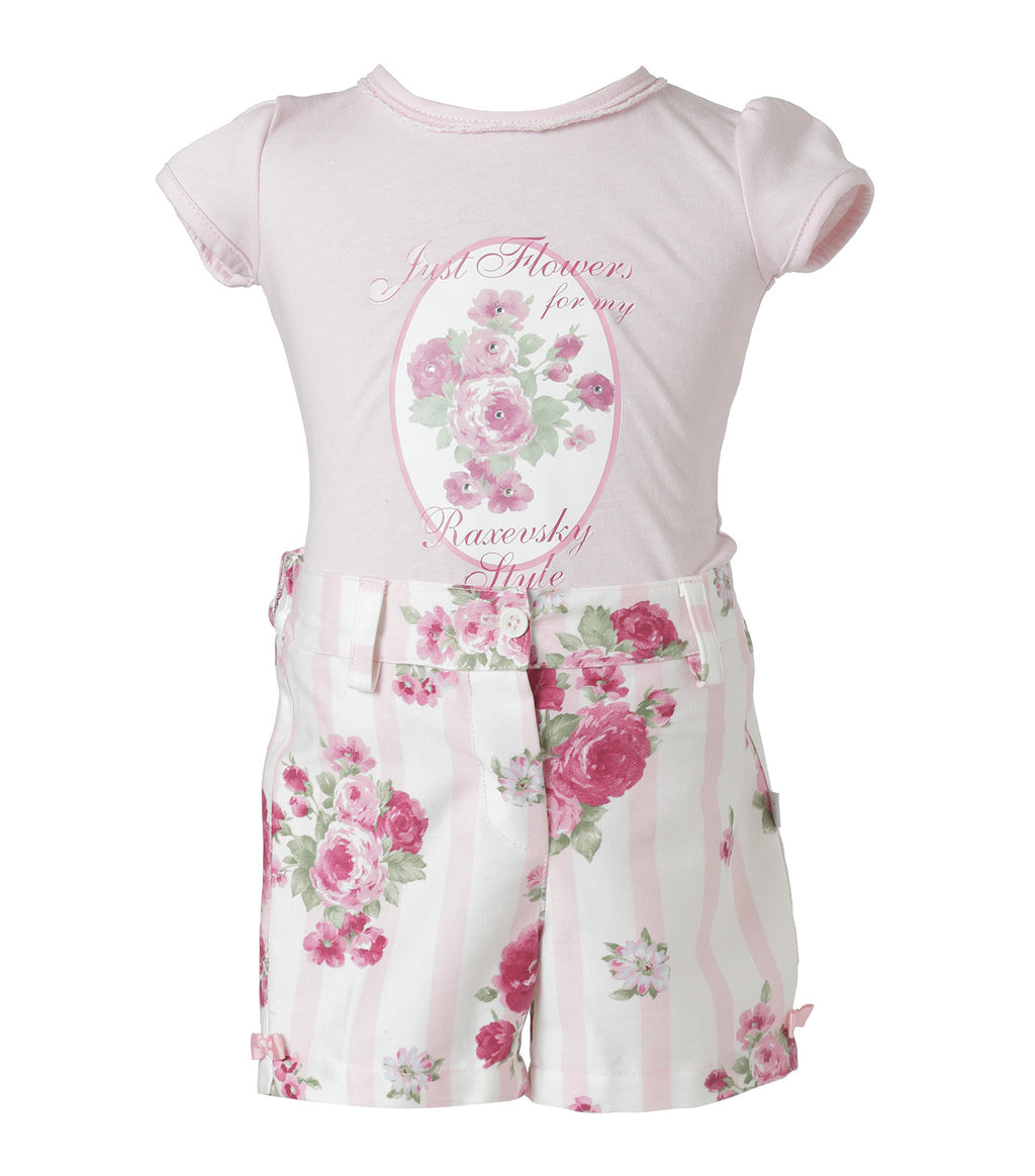 Set Shorts Rosas Infant