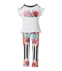 Set Flores 3D Leggings