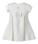 Vestido Tweed Blanco Brillos Infant