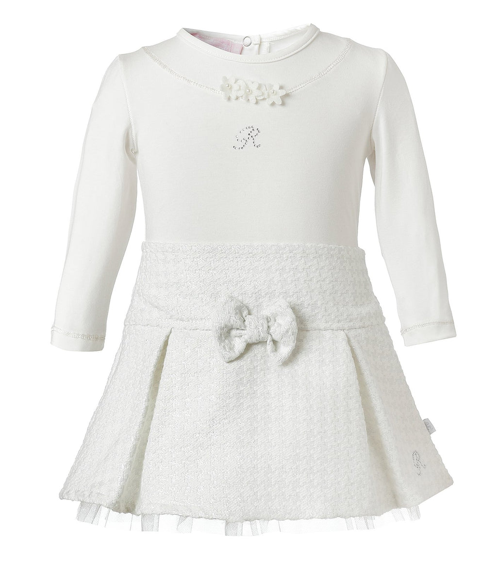 Set Blusa Blanca con Falda en Tweed con Brillo Infant