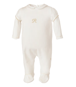 Mameluco Terciopelo Blanco Infant