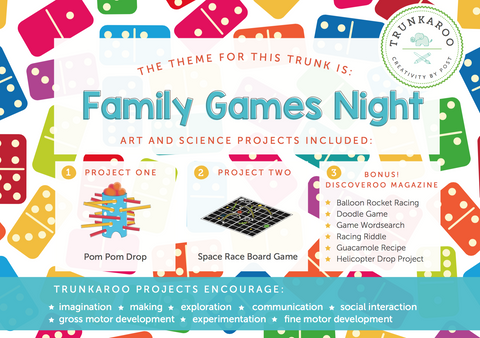 November Trunkaroo Theme: Family Games Night