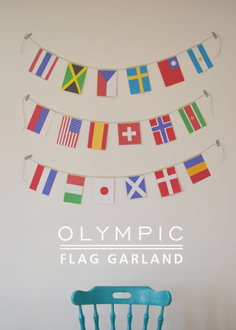 Olympic flag garland