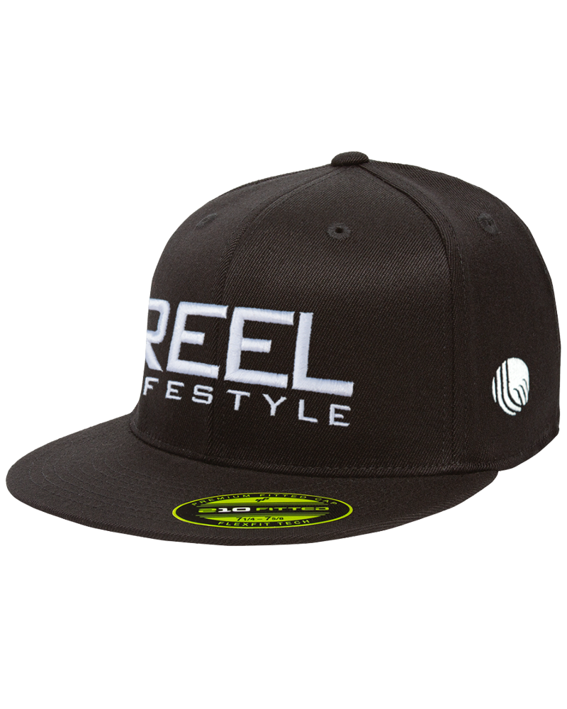 Premium 210 Fitted black hat with 3D Puff - Black
