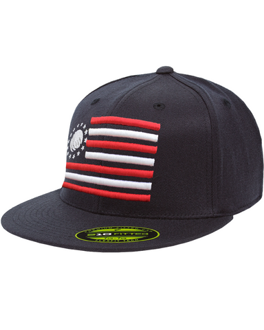 Premium 210 Fitted 4th of July 3D Puff - Navy