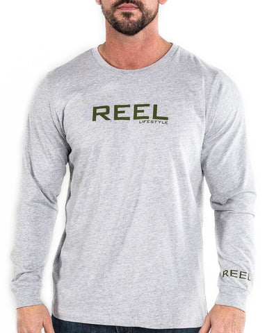 Big REEL Long Sleeve - Heather Grey
