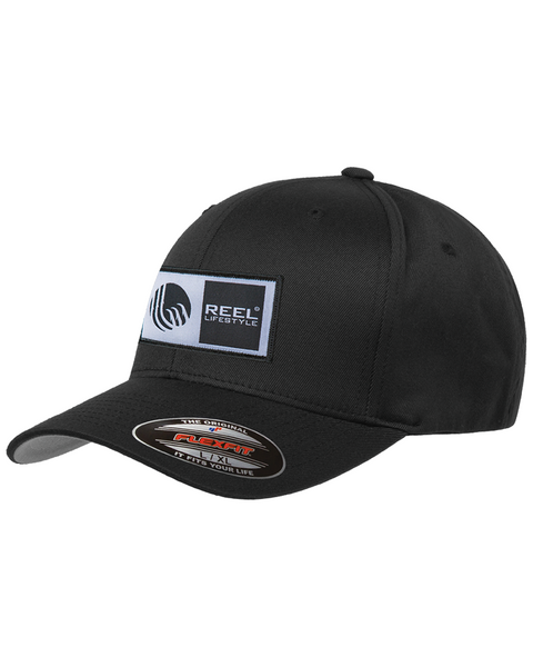 Flexfit Original Wooly Combed Twill - Original Logo Patch Hat - Black