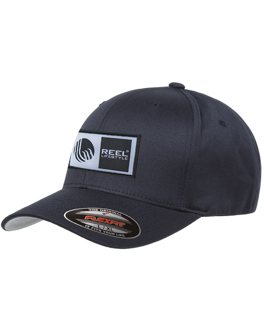 Flexfit Original Wooly Combed Twill - Original Logo Patch Hat - Navy