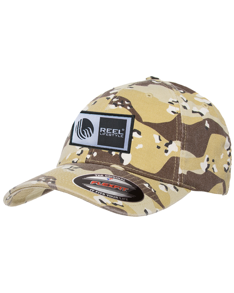 Flexfit Original Wooly Combed Twill Washed Camo - Original Logo Patch - Desert