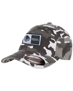 Flexfit Original Wooly Combed Twill Washed Camo - Original Logo Patch - Silver