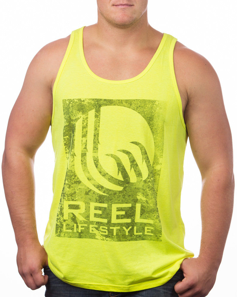 Neon Yellow Distressed Tank