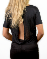 Patterns Flowy Open Back T-Shirt