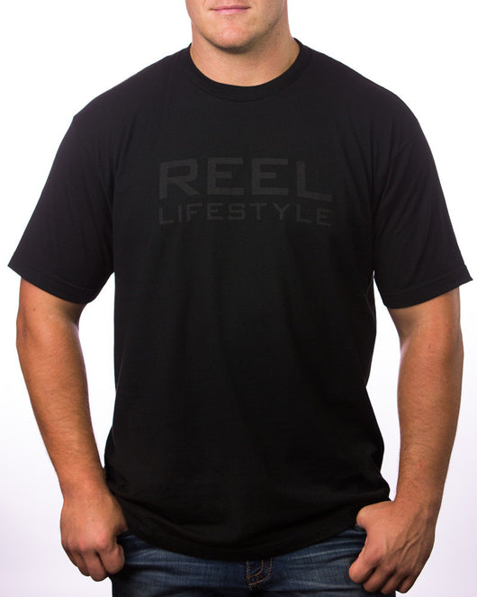 REEL Tee - Black on Black