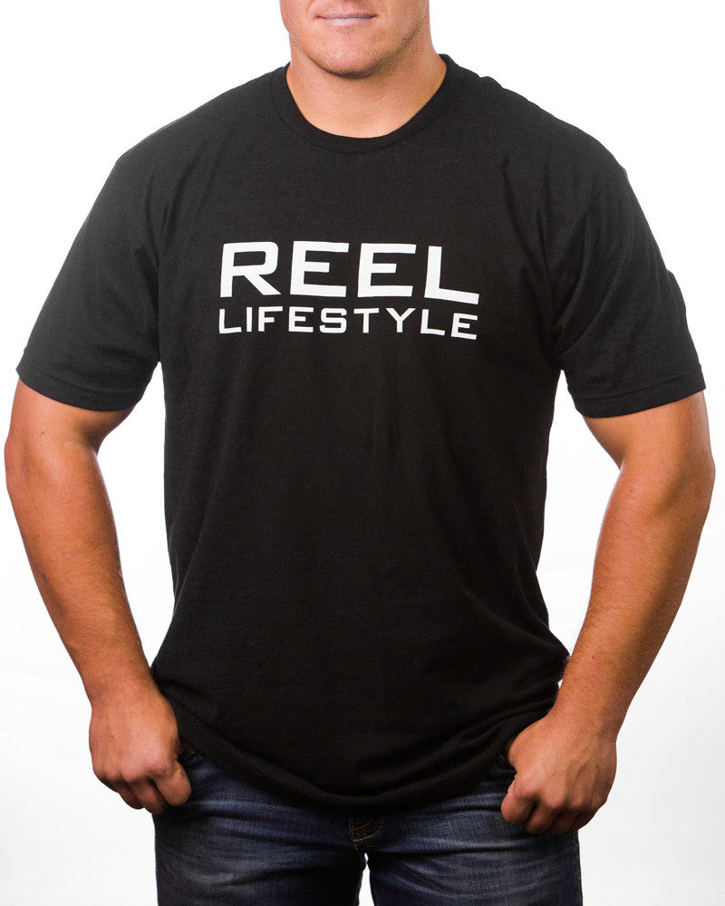 REEL Tee - White on Black