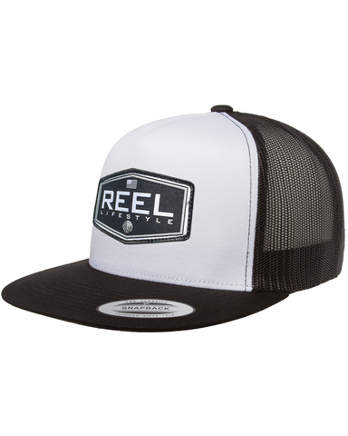 REEL Ovated 2-Tone Snapback - Black/White