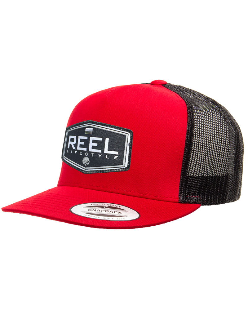 REEL Ovated 2-Tone Snapback - Black/Red